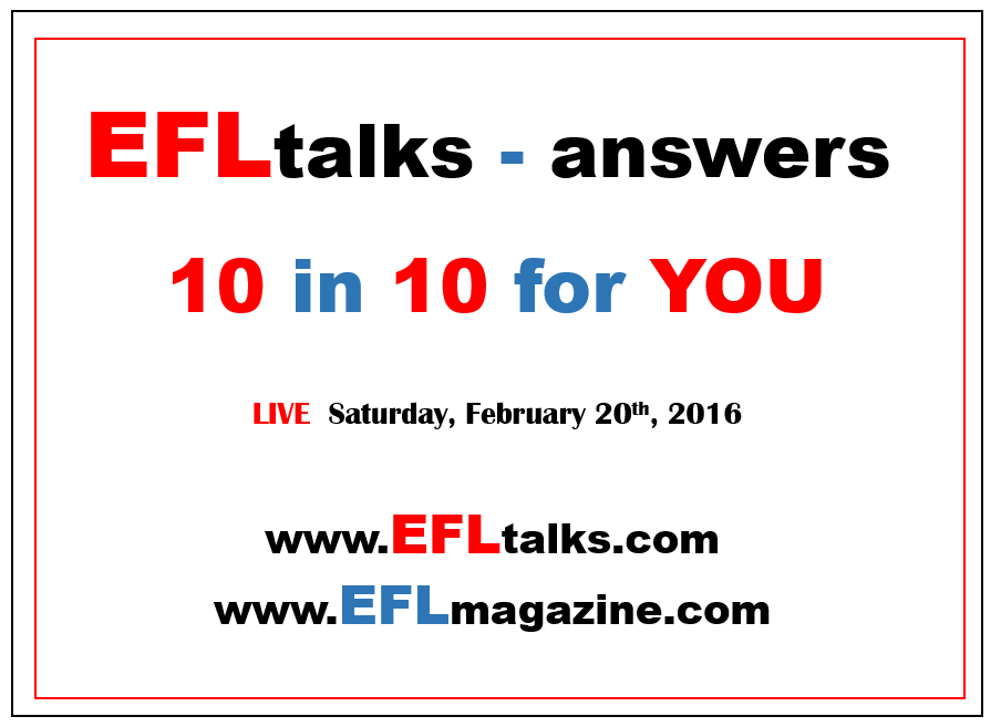 EFLtalks answers – 10 in 10 for YOU